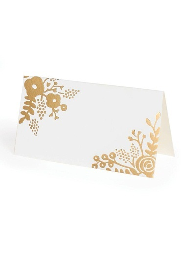 Gold Lace 8'li Masa Kartı-Rifle Paper Co.